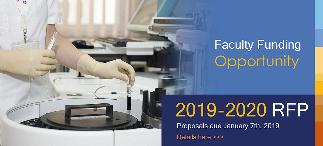 Faculty Funding Opportunity 2019-2020 RFP Banner